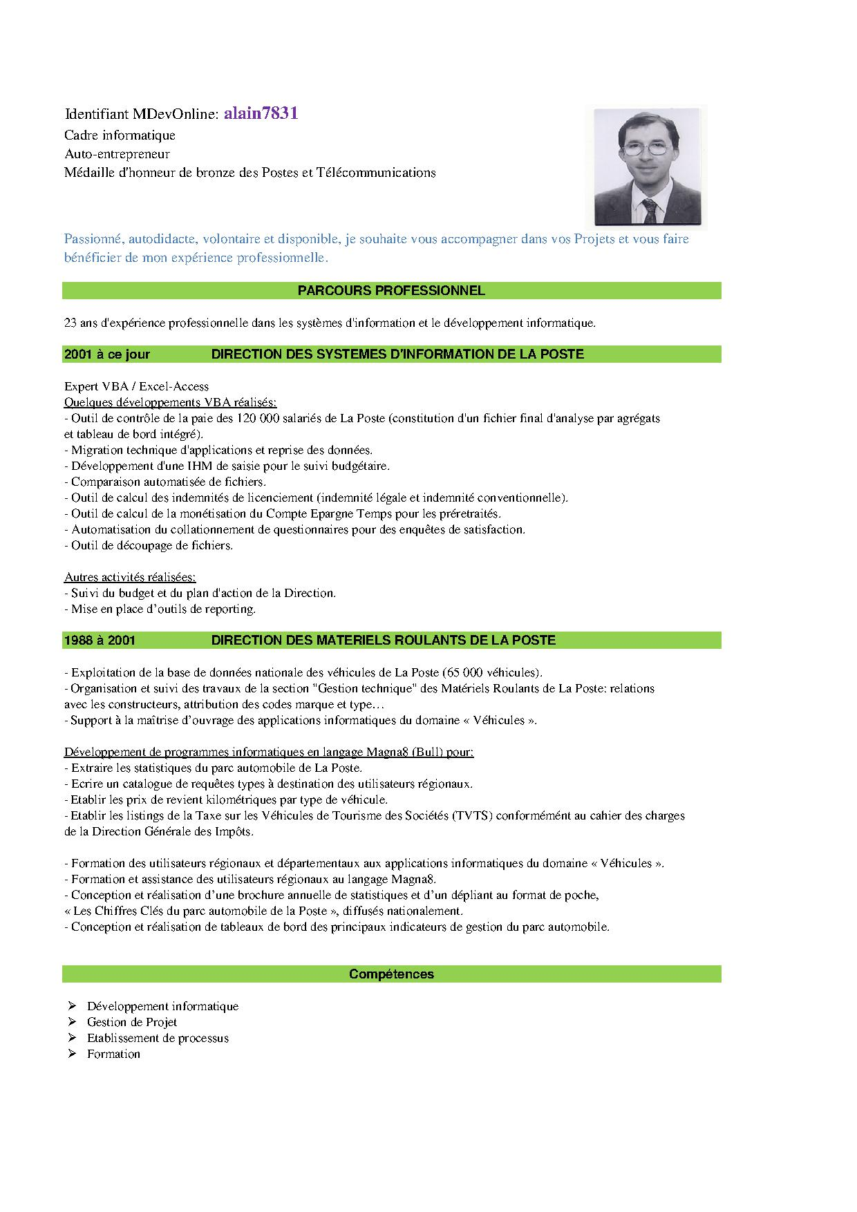 exemple cv 5 ans d experience